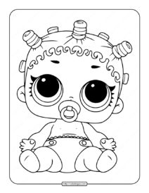 Printable Lol Surprise Lil Roller Sk8ter Coloring Page