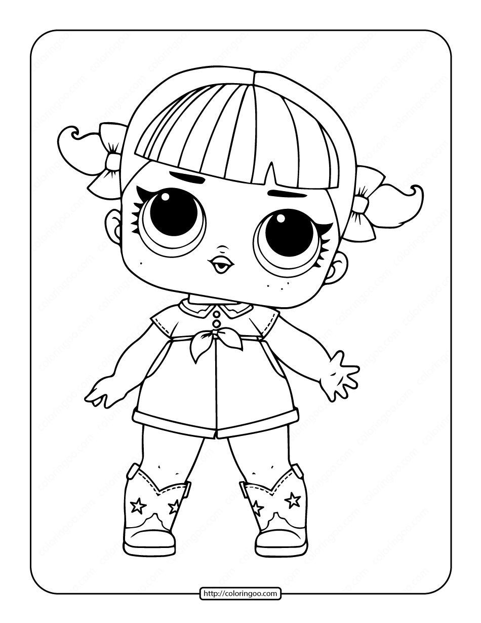 Printable Lol Surprise Line Dancer Coloring Page