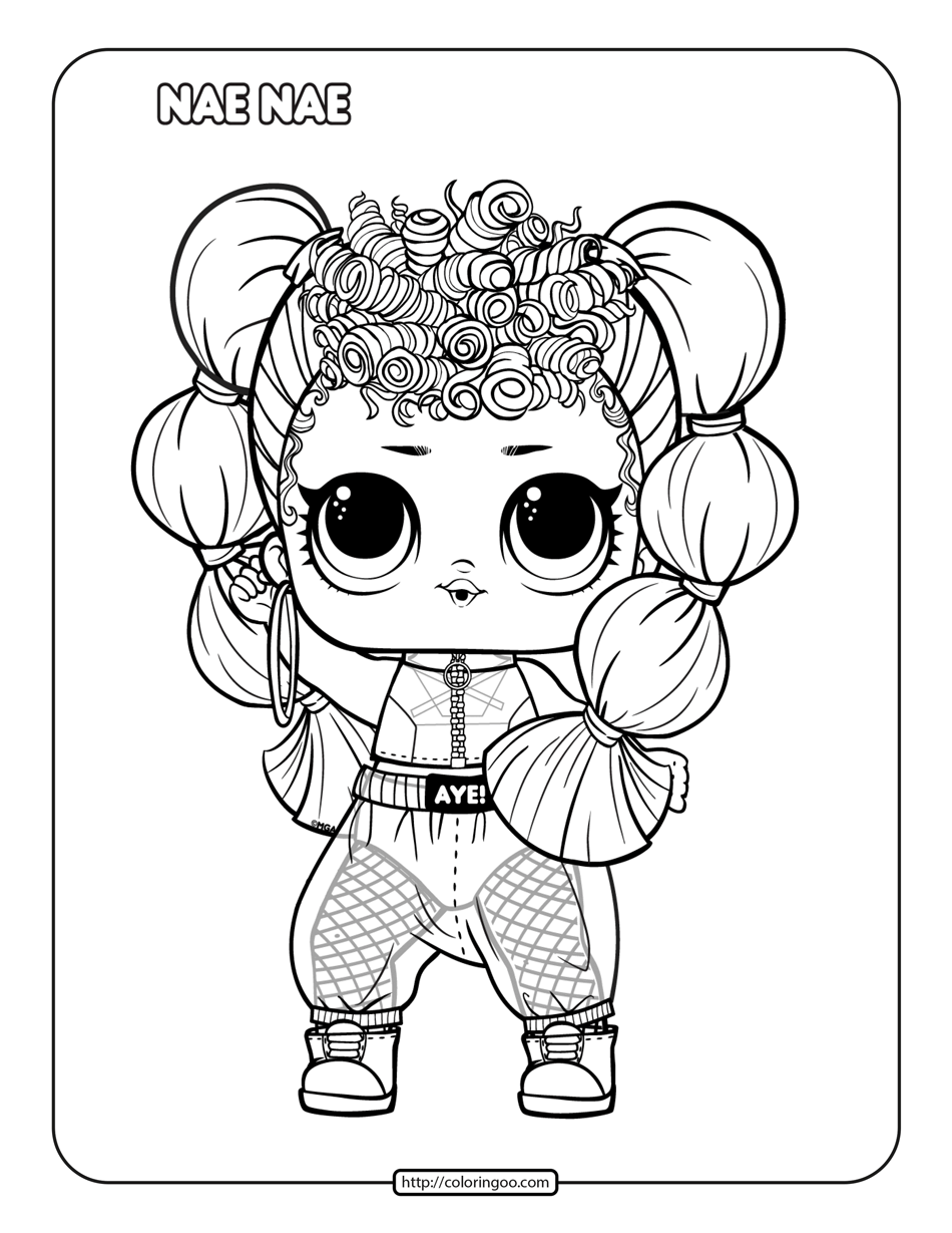 Printable LOL Surprise Remix Nae Nae Coloring Page
