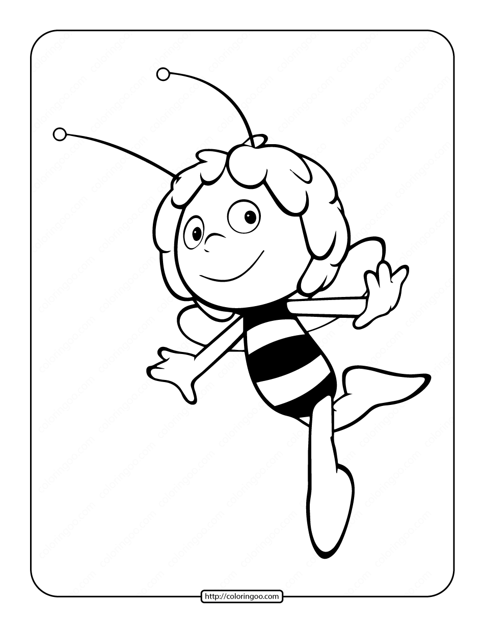 Printable Maya the Bee Coloring Page