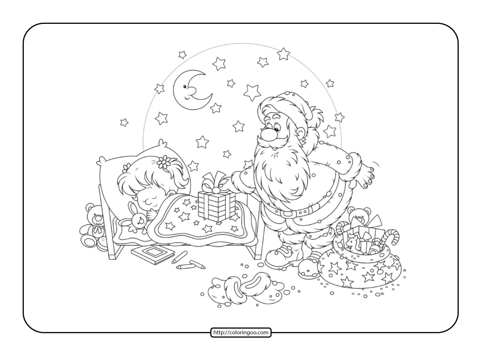 Printable New Years Eve Coloring Page