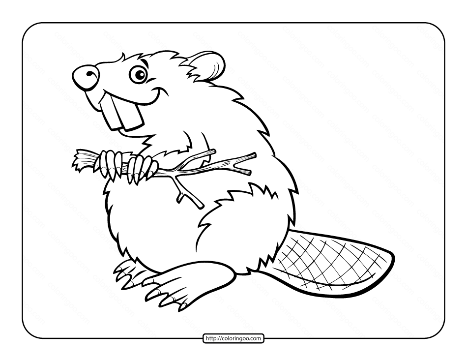 Printables Beaver Coloring Page