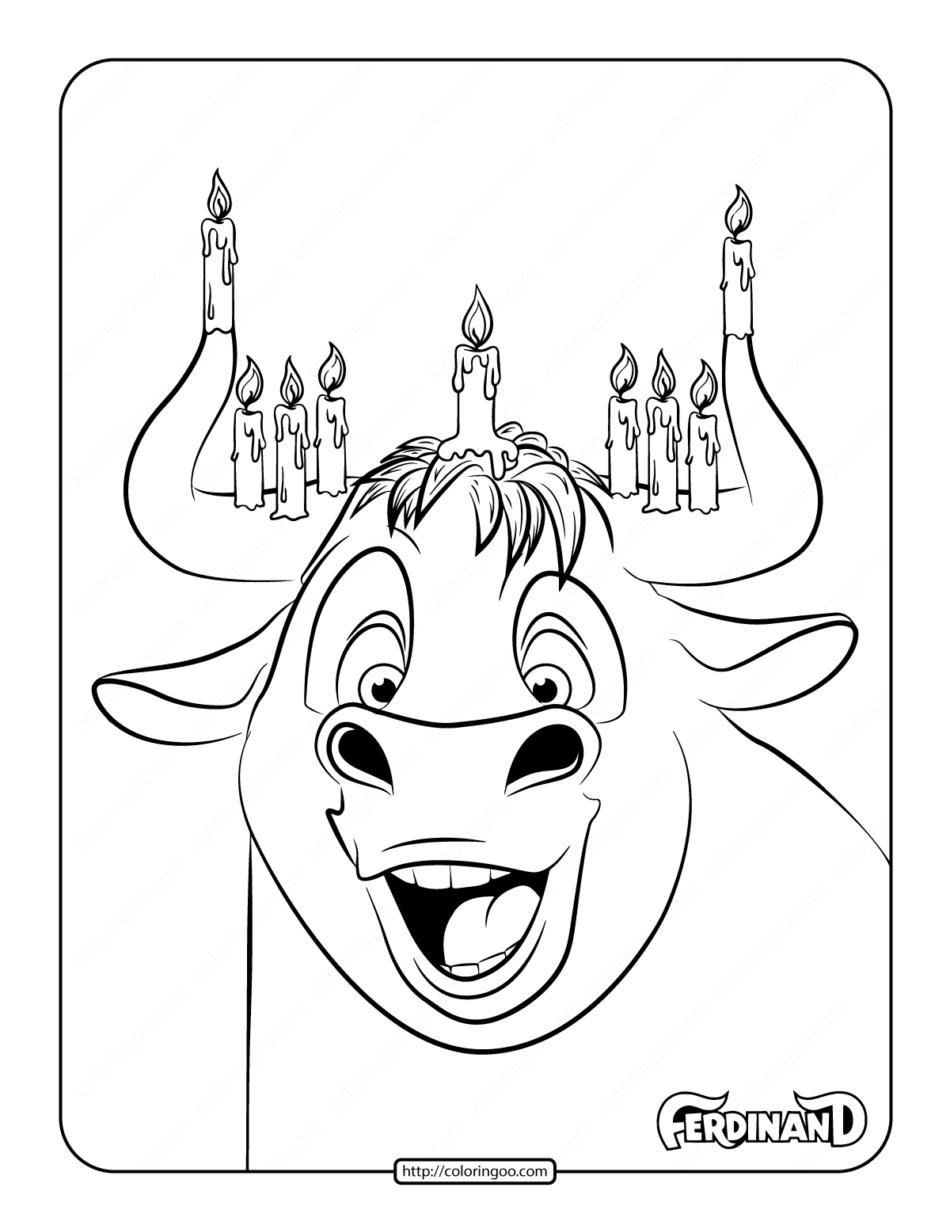 Printable Ferdinand Coloring Pages