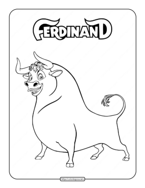 The Bull Ferdinand Coloring Page