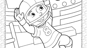 American Football Player Coloring Page