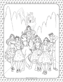 Barbie Princess Adventure Coloring Page