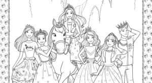 Barbie Princess Adventure Coloring Page