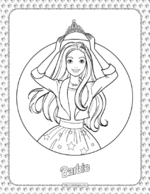 Barbie Princess Adventure Coloring Pages 01