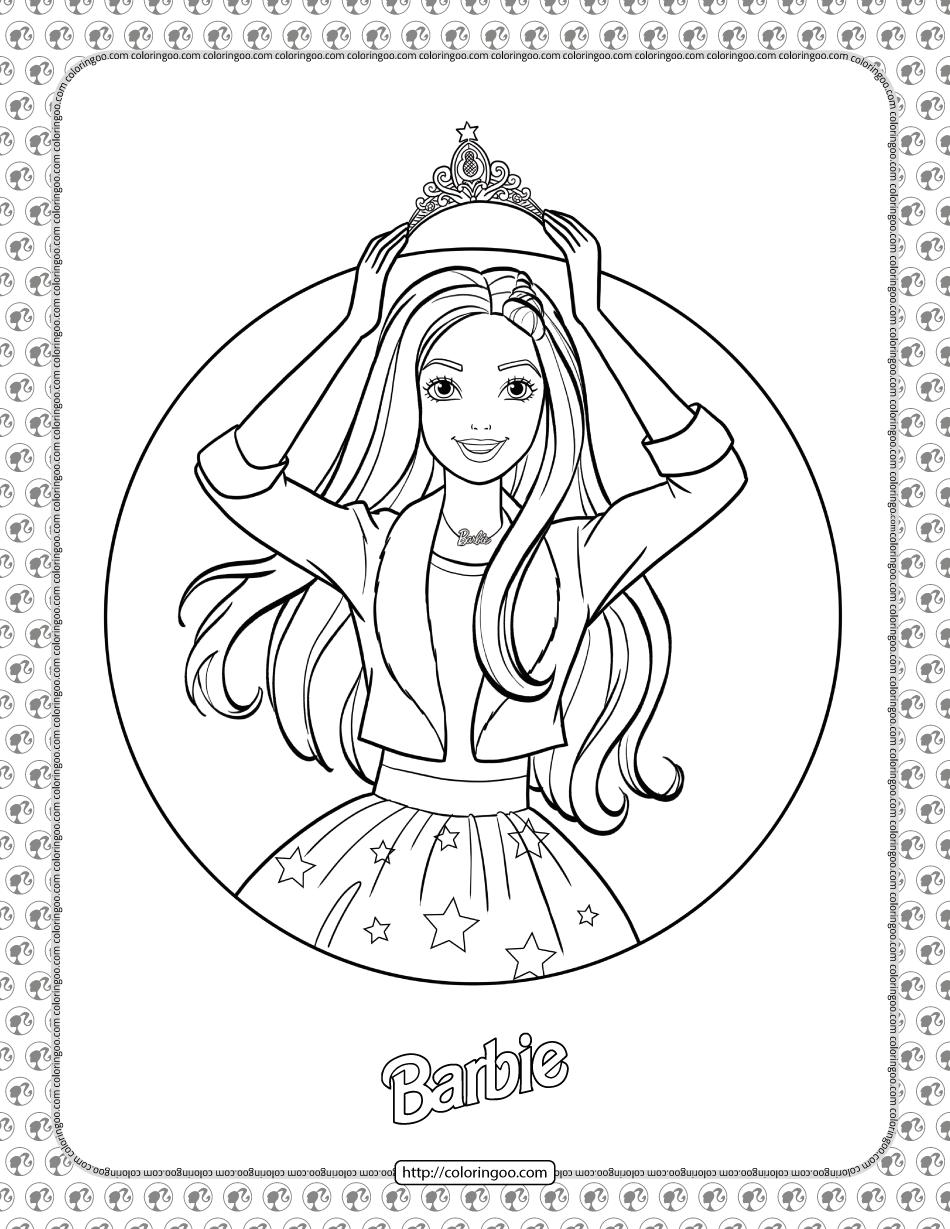 Barbie Princess Adventure Coloring Pages 01