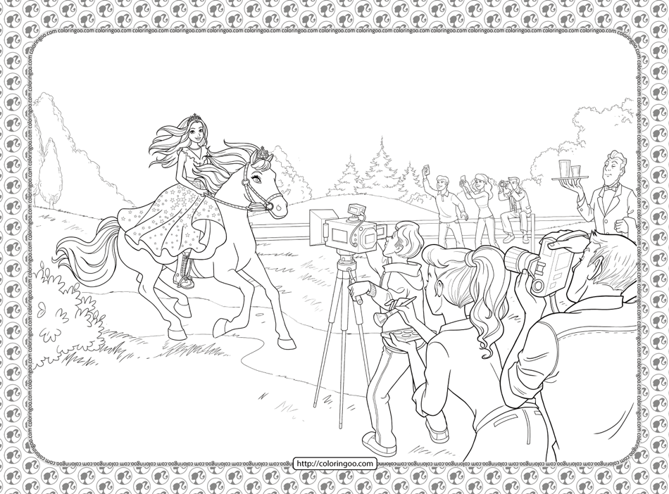 Barbie Princess Adventure Coloring Pages 02