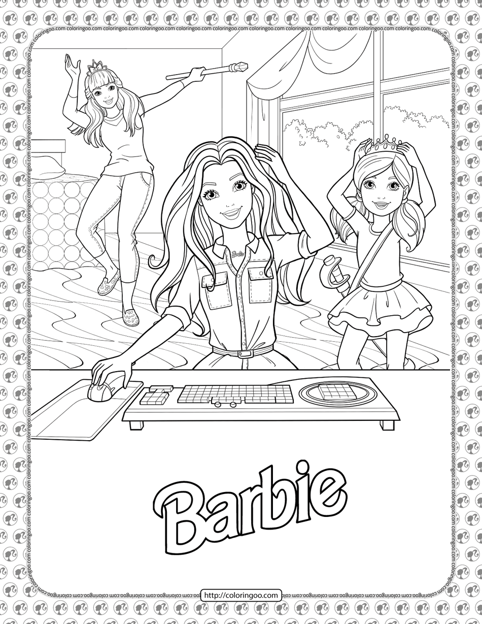 Barbie Princess Adventure Coloring Pages 03