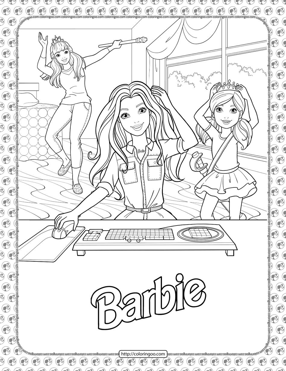 Barbie Princess Adventure Coloring Pages 03