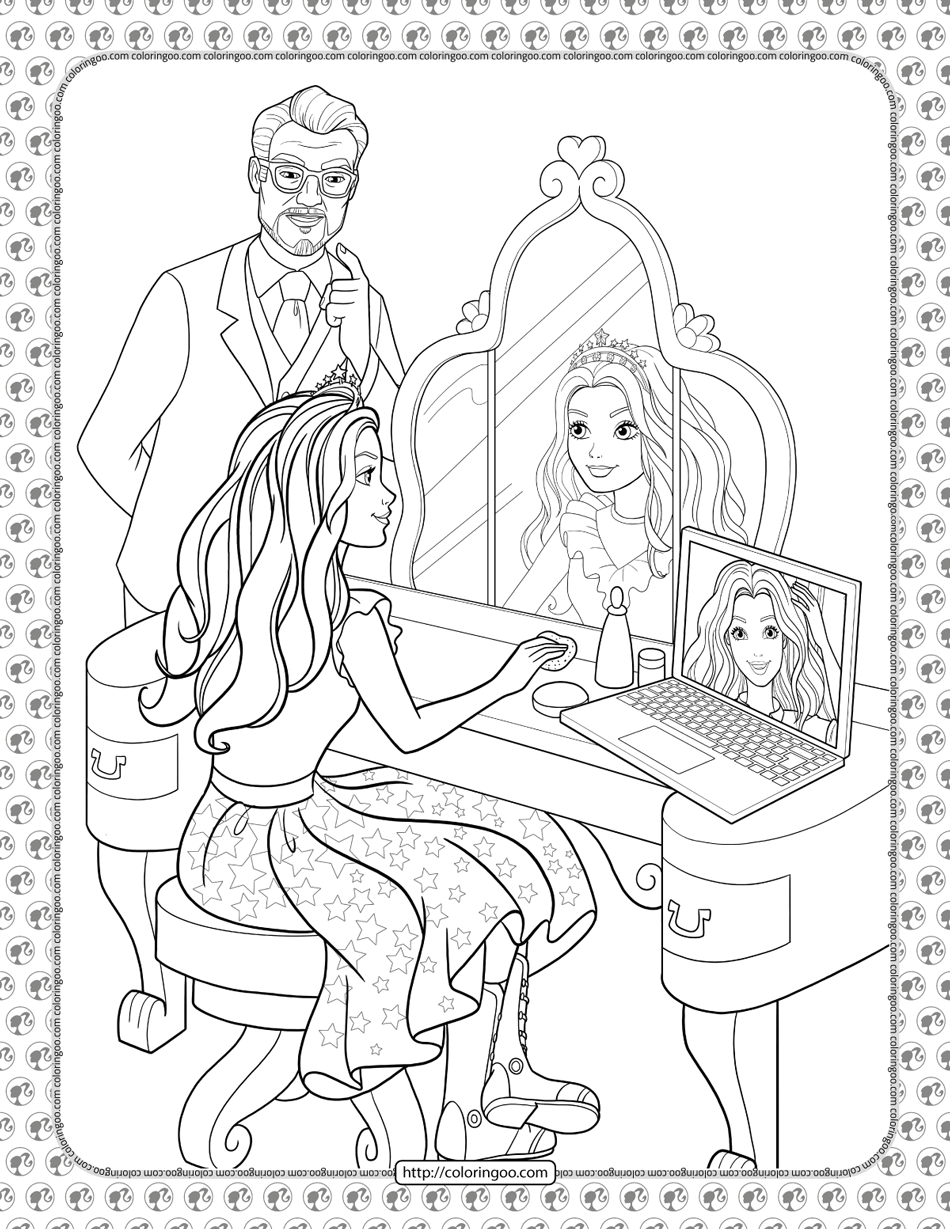 Barbie Princess Adventure Coloring Pages 04