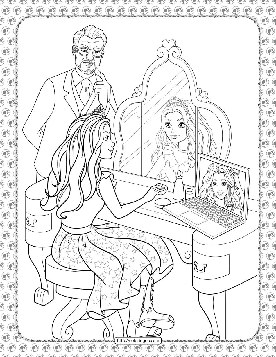 Barbie Princess Adventure Coloring Pages 04