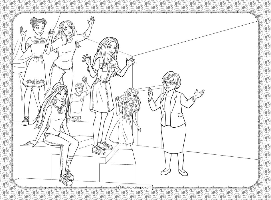 Barbie Princess Adventure Coloring Pages 05