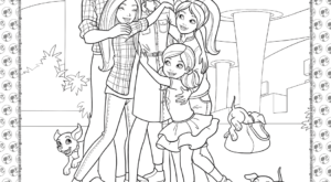 Barbie Princess Adventure Coloring Pages 06