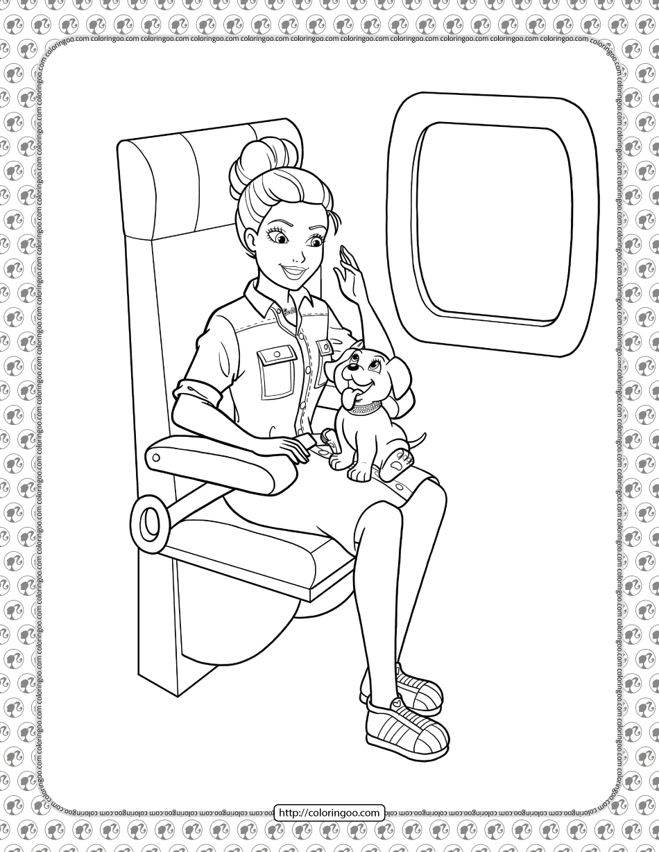Barbie Princess Adventure Coloring Pages 07