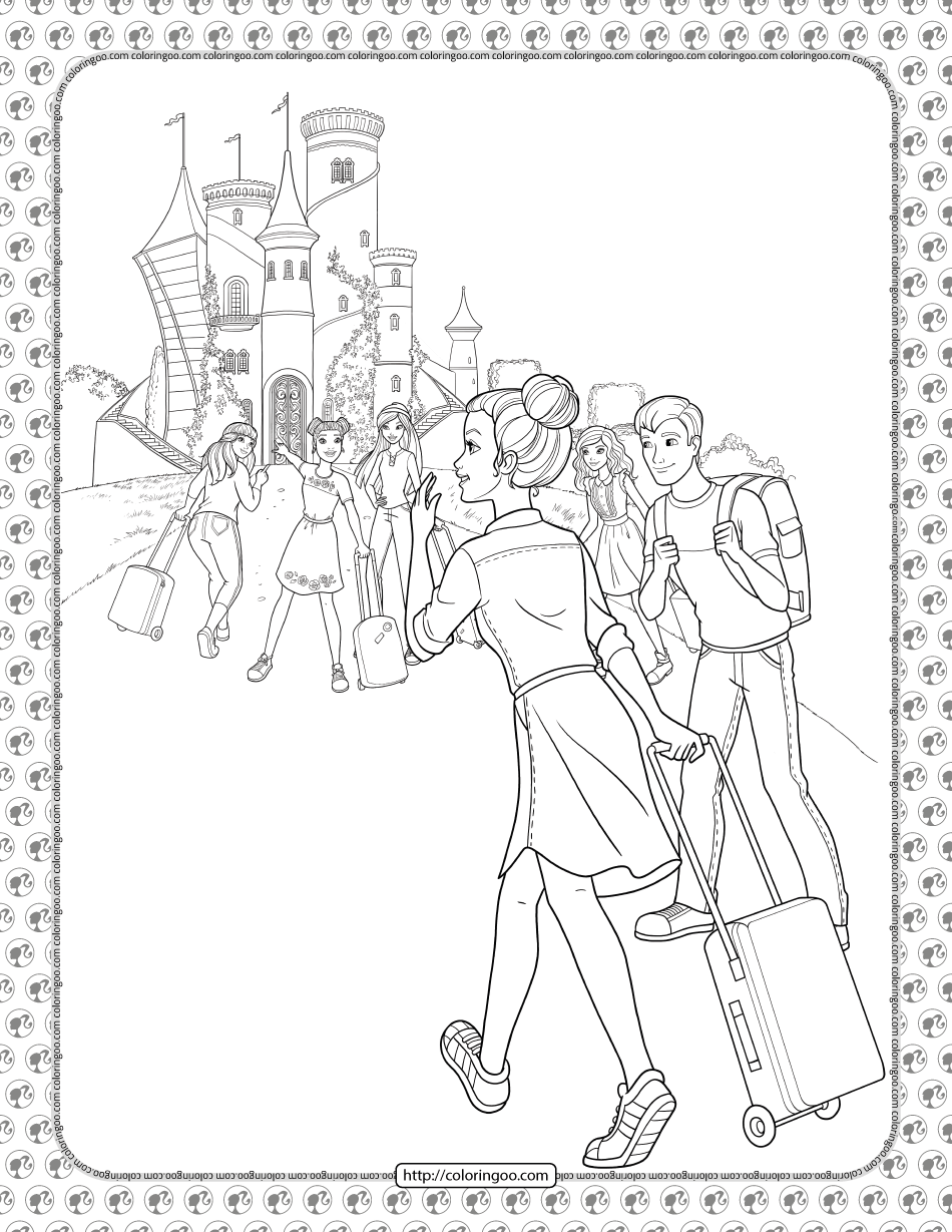 Barbie Princess Adventure Coloring Pages 08