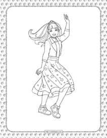 Barbie Princess Adventure Coloring Pages 09