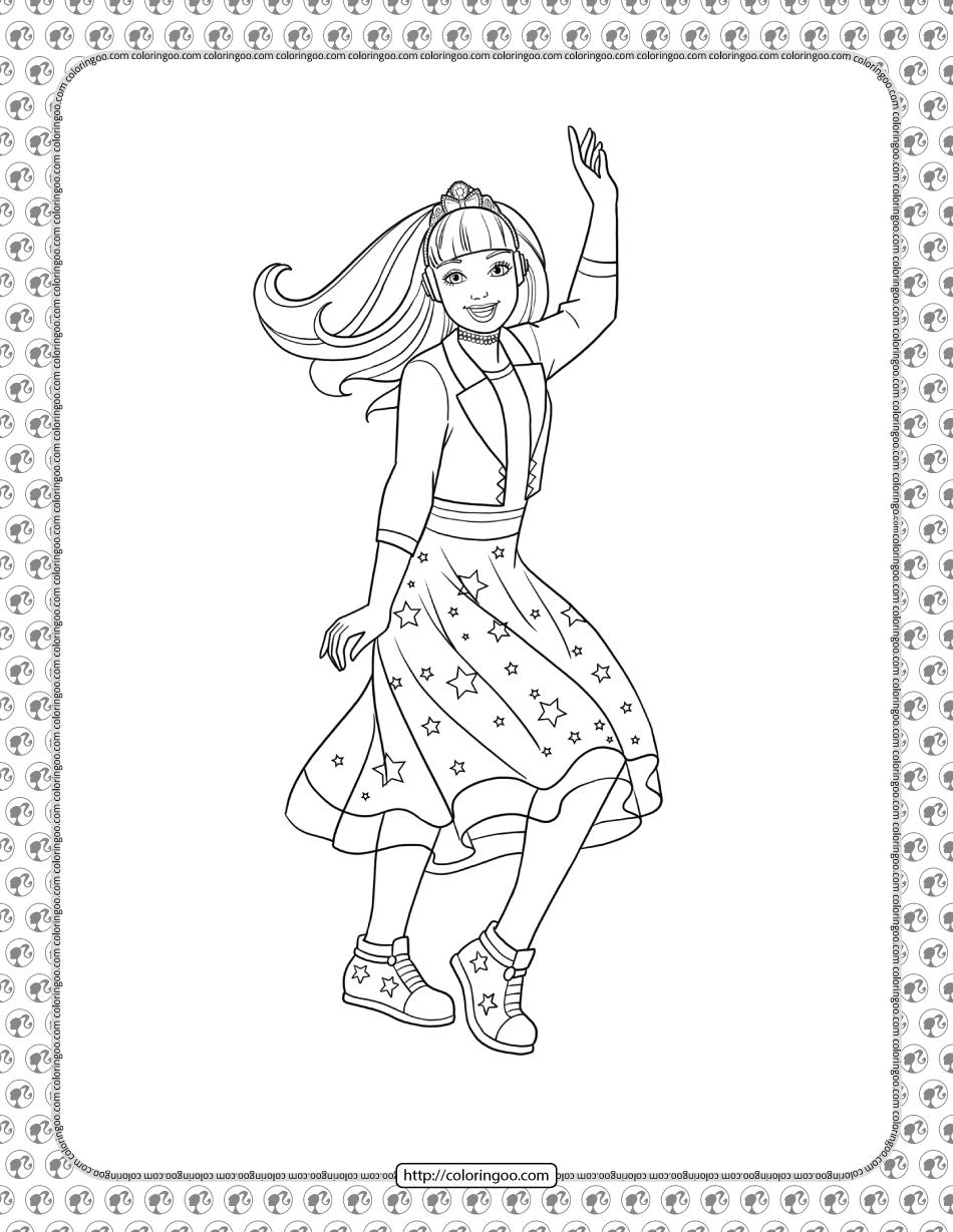 Barbie Princess Adventure Coloring Pages 09