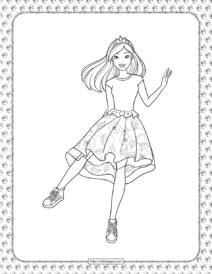 Barbie Princess Adventure Coloring Pages 10