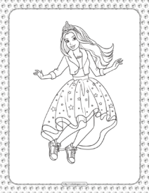 Barbie Princess Adventure Coloring Pages 11