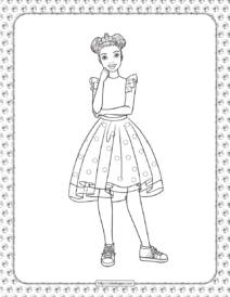 Barbie Princess Adventure Coloring Pages 12