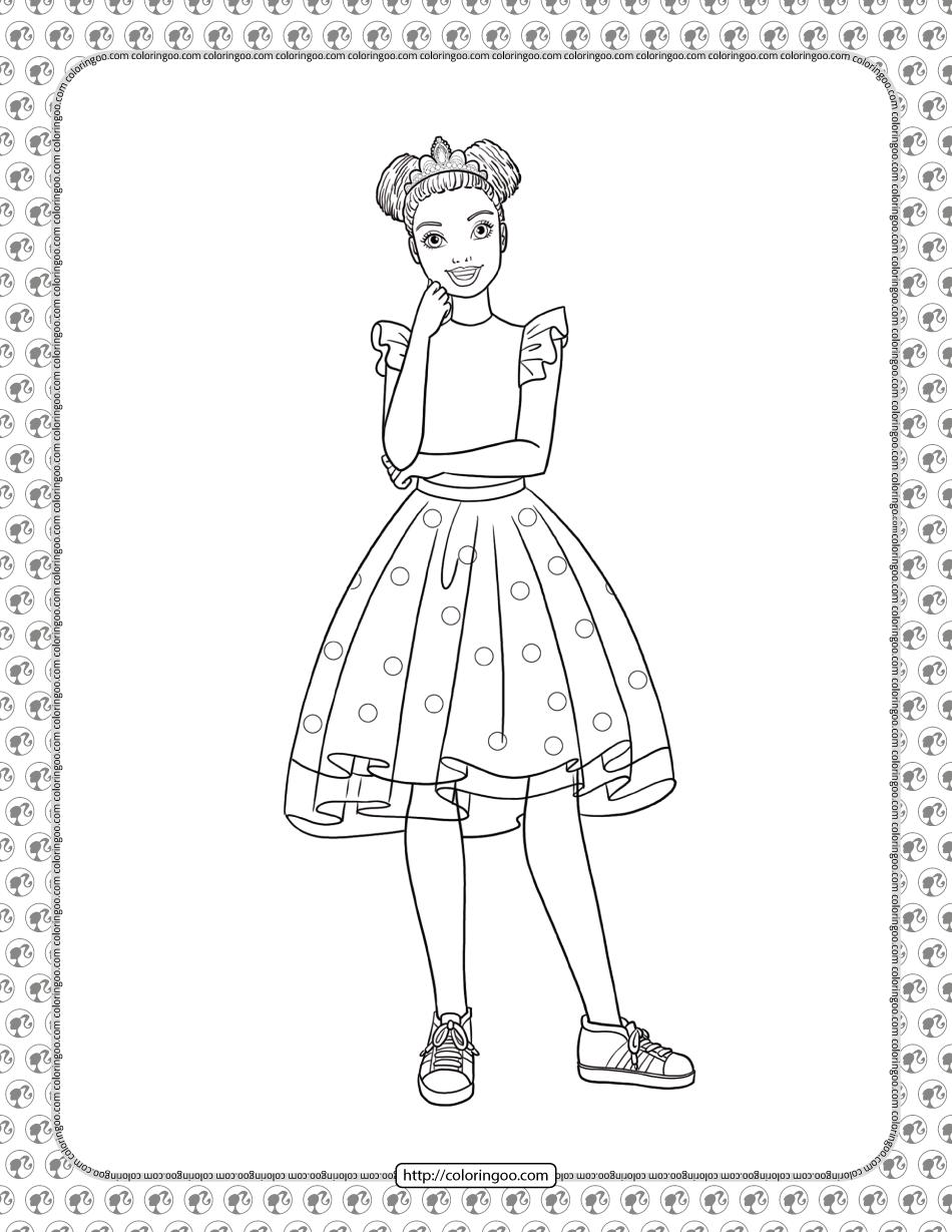 Barbie Princess Adventure Coloring Pages 12