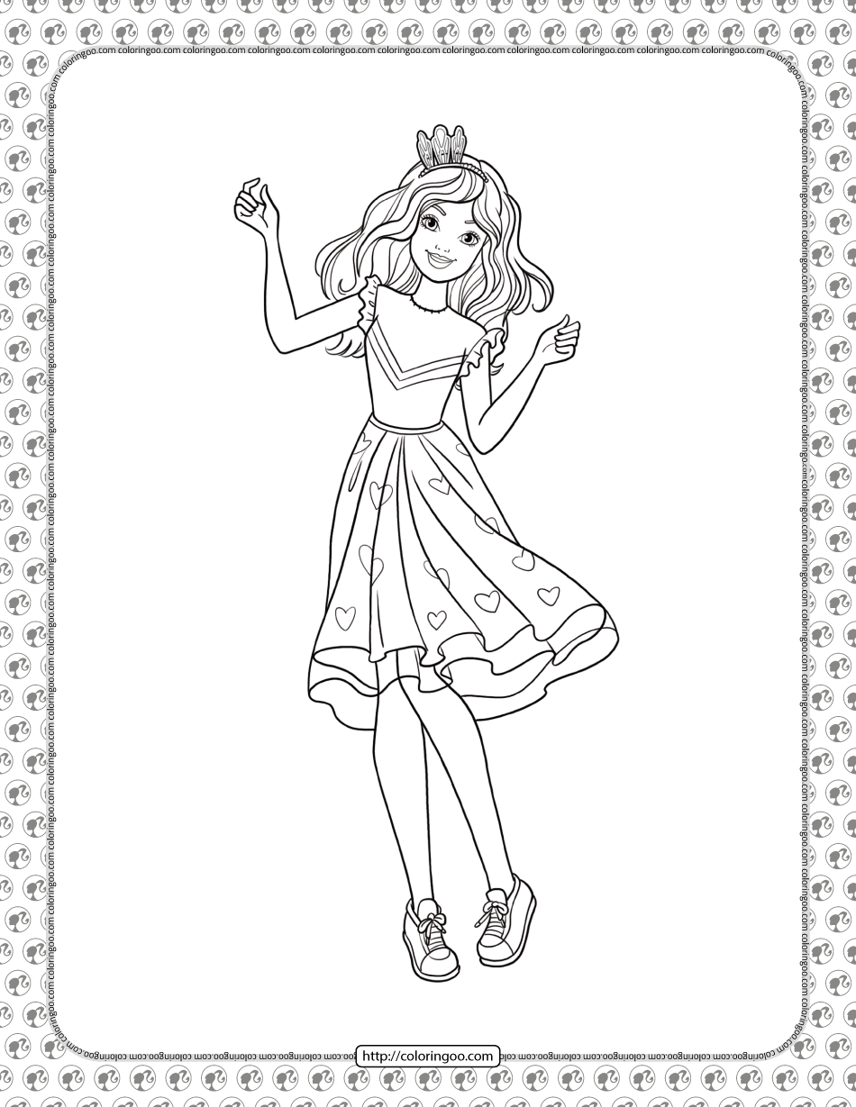 Barbie Princess Adventure Coloring Pages 13