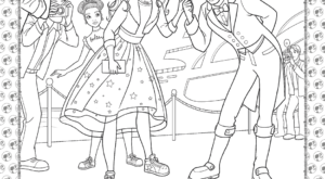 Barbie Princess Adventure Coloring Pages 15