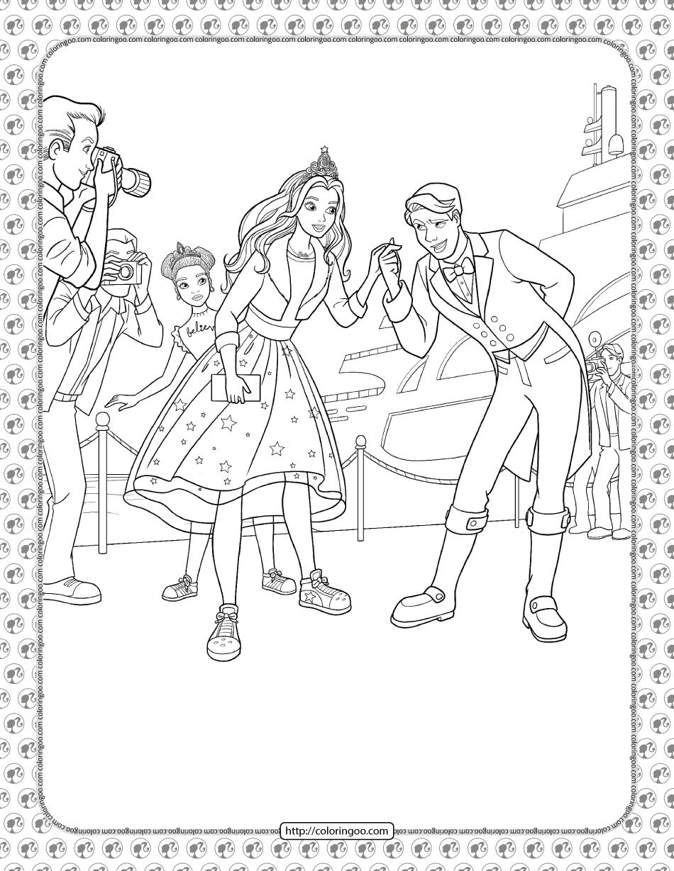 Barbie Princess Adventure Coloring Pages 15
