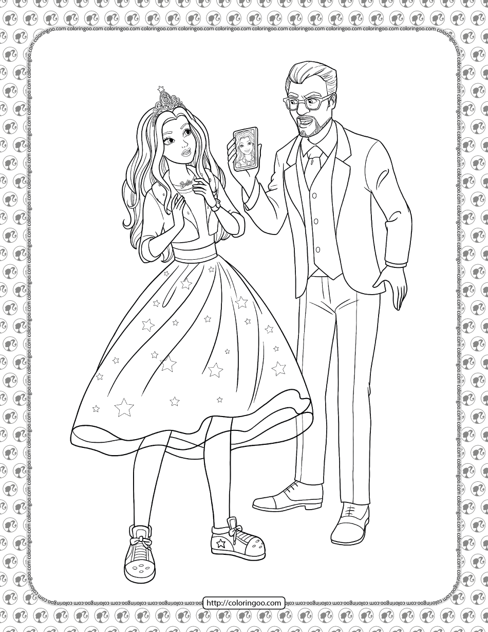 Barbie Princess Adventure Coloring Pages 16