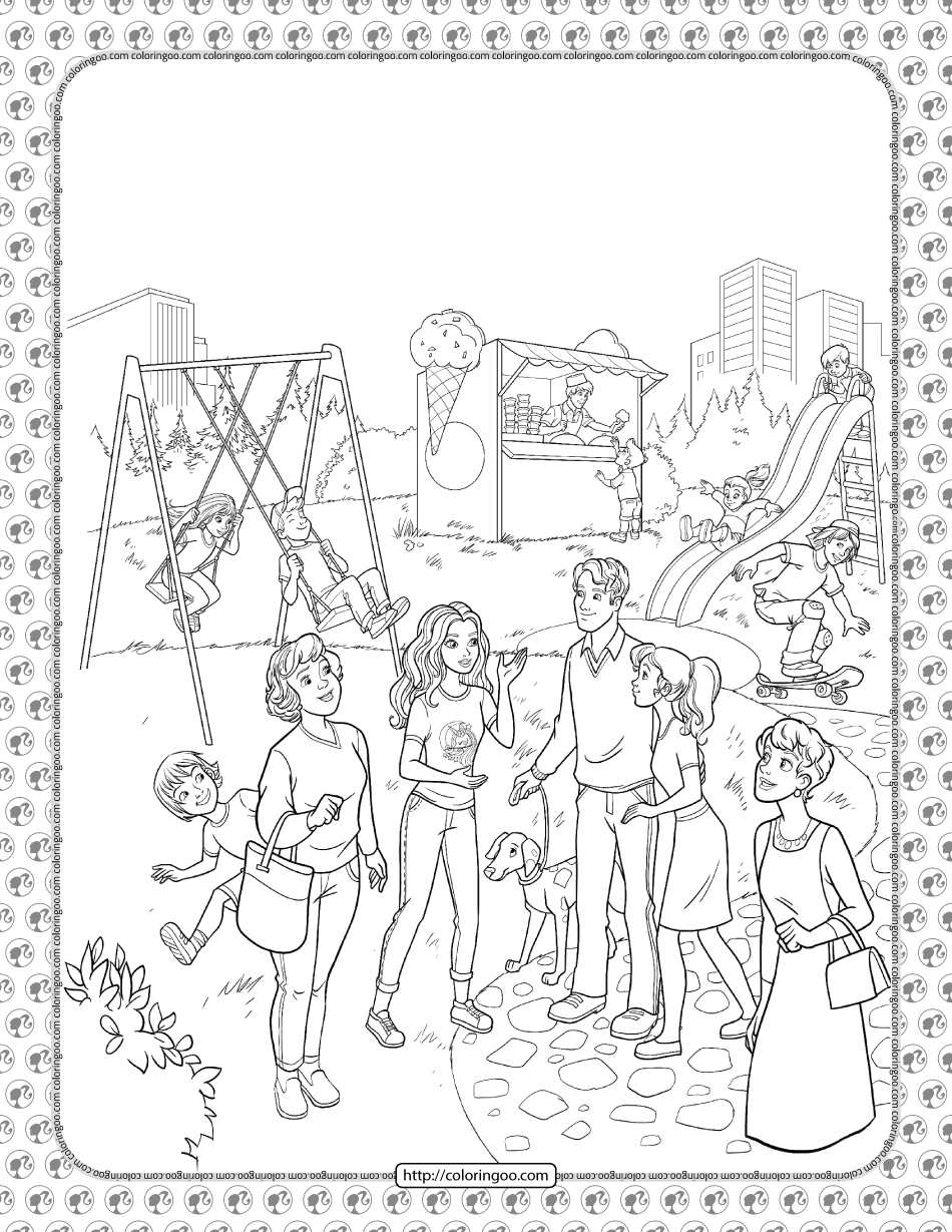 Barbie Princess Adventure Coloring Pages 18