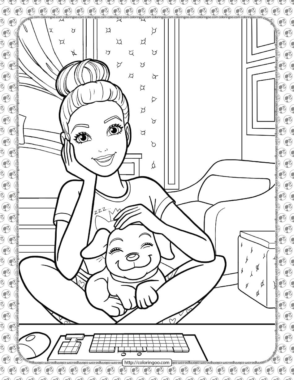 Barbie Princess Adventure Coloring Pages 20