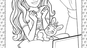 Barbie Princess Adventure Coloring Pages 21