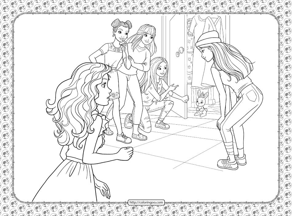 Barbie Princess Adventure Coloring Pages 24