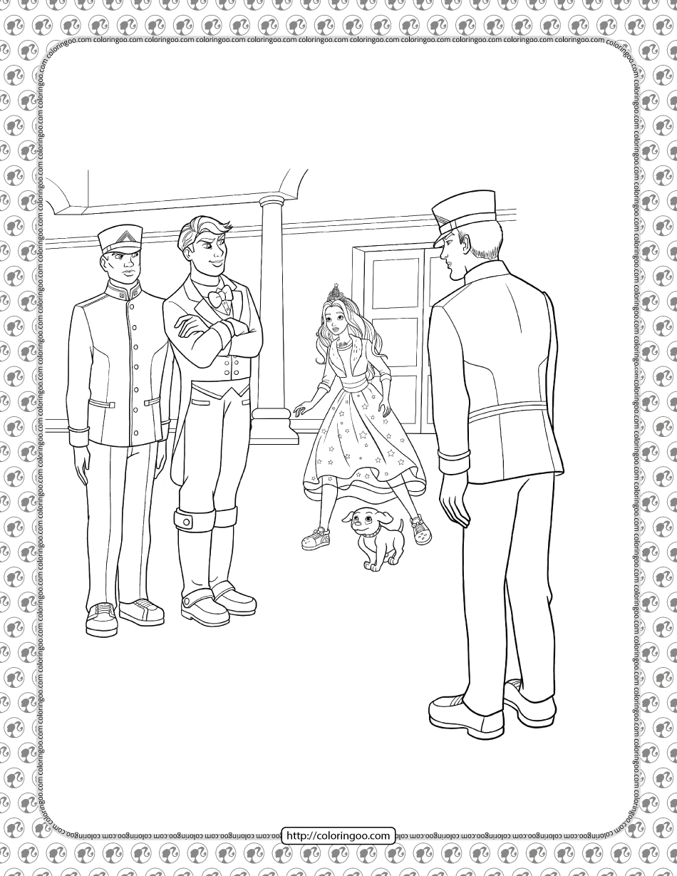 Barbie Princess Adventure Coloring Pages 26