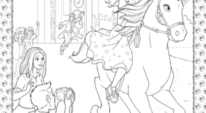 Barbie Princess Adventure Coloring Pages 28