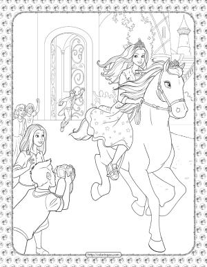 Barbie Princess Adventure Coloring Pages 28