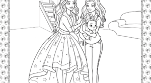 Barbie Princess Adventure Coloring Pages 29