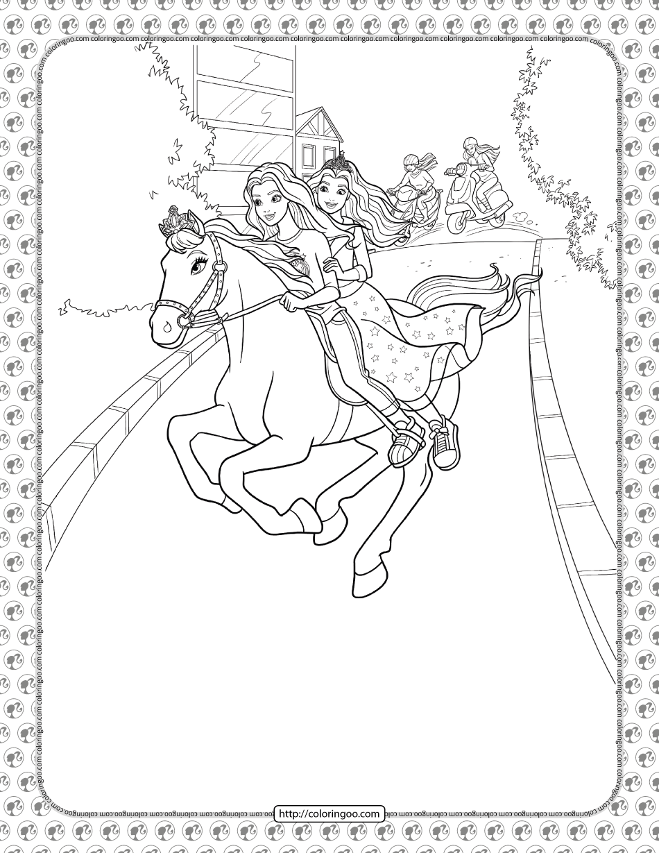 Barbie Princess Adventure Coloring Pages 31