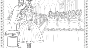 Barbie Princess Adventure Coloring Pages 33