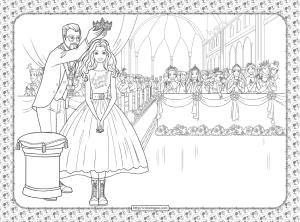 Barbie Princess Adventure Coloring Pages 33