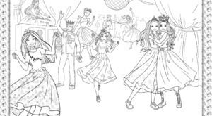Barbie Princess Adventure Coloring Pages 34