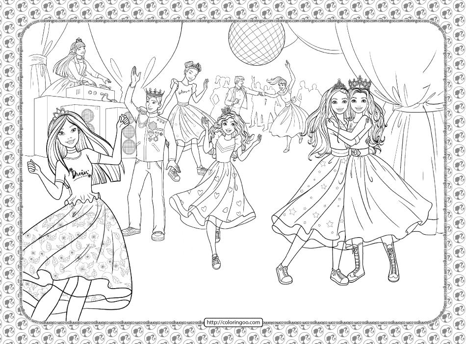 Barbie Princess Adventure Coloring Pages 34