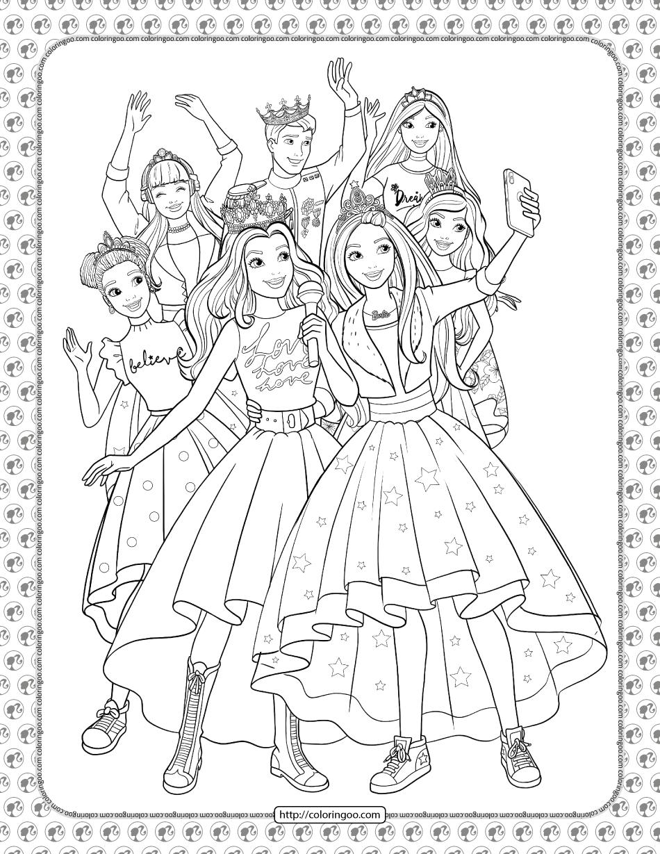 Barbie Princess Adventure Coloring Pages 35