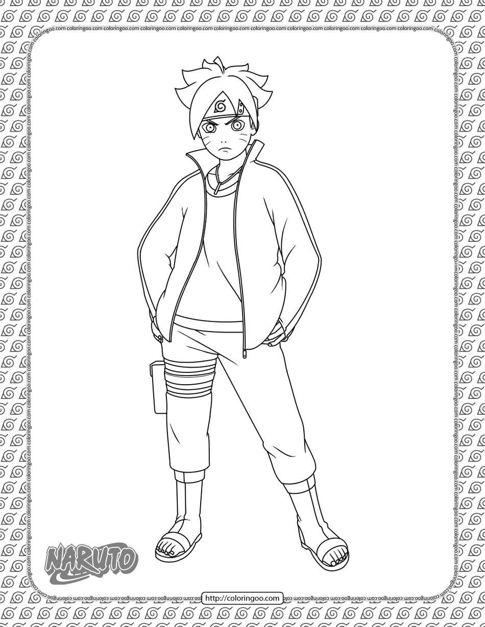 Boruto Uzumaki Coloring Page