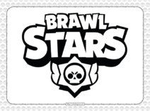 Brawl Stars Pdf Logo Outline Coloring Page