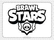 Brawl Stars Pdf Logo Outline Coloring Page