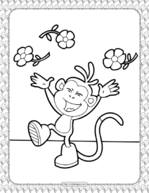 Cartoon Boots Coloring Page
